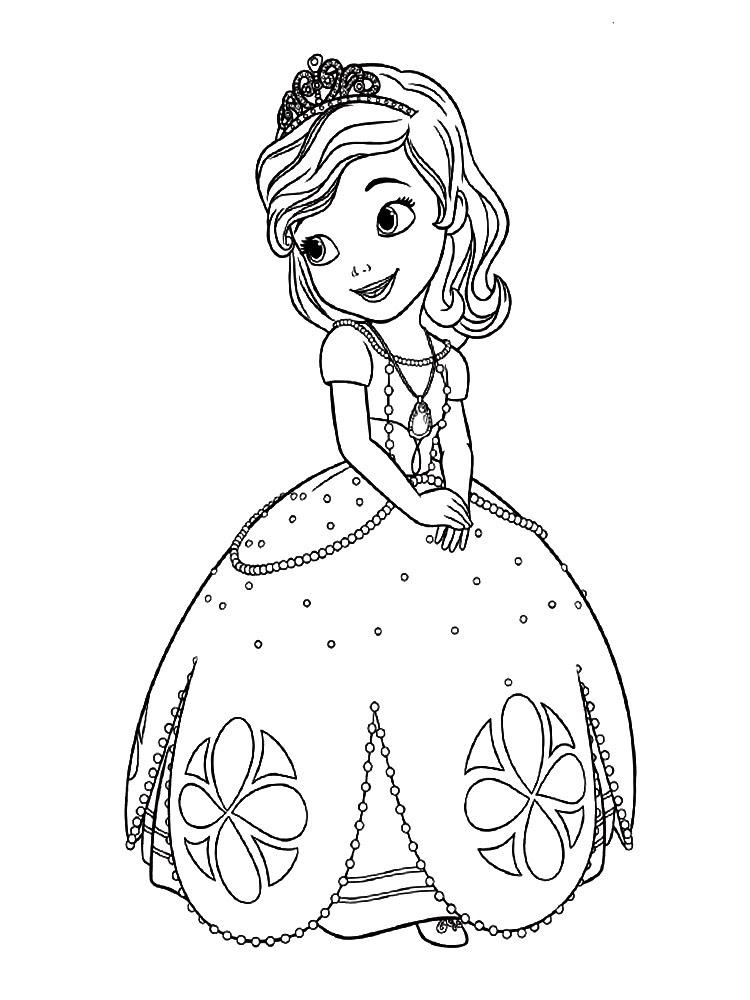 Dibujos Para Colorear La Princesa Sofia Para Un Desarrollo