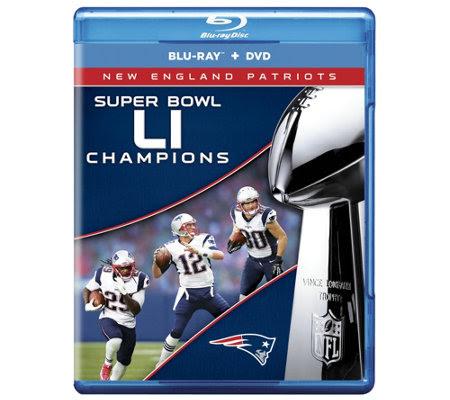 New England Patriots NFL Super Bowl 51 ChampsBluray/DVD Set — QVC.com