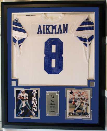 Troy Aikman Autographed Dallas Cowboys Home Jersey Including Two 8