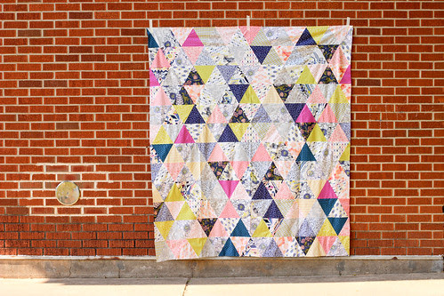 Equilateral Triangle Throw Quilt by Jeni Baker