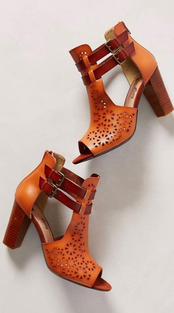 Gorgeous brown covered bridge high heel shooties