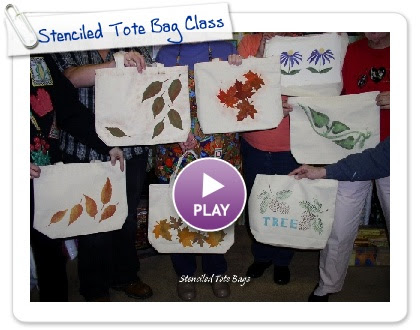 Click to play this Smilebox slideshow: Stenciled Tote Bag Class