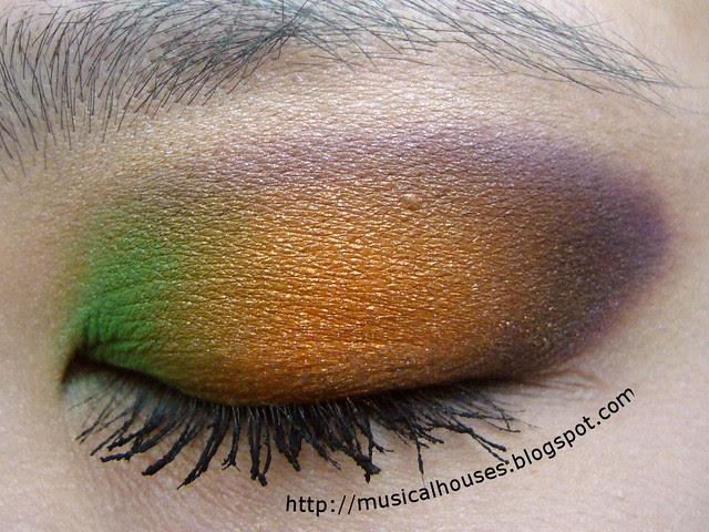 purple orange green secondary colors eye look 1