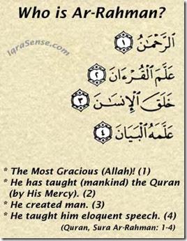 "islam on Why Sura Ar Rahman starts with the divine attribute of ""Ar Rahman""?"