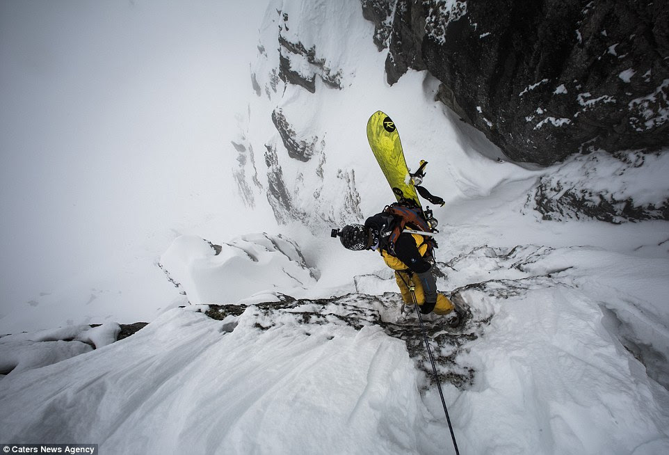 Tero, 36, first became began photographing skiers in 1997 before purchasing his first digital camera seven years later