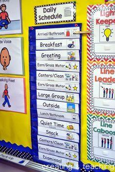 Daily Schedule Elementary Classroom | Daily Agenda Calendar