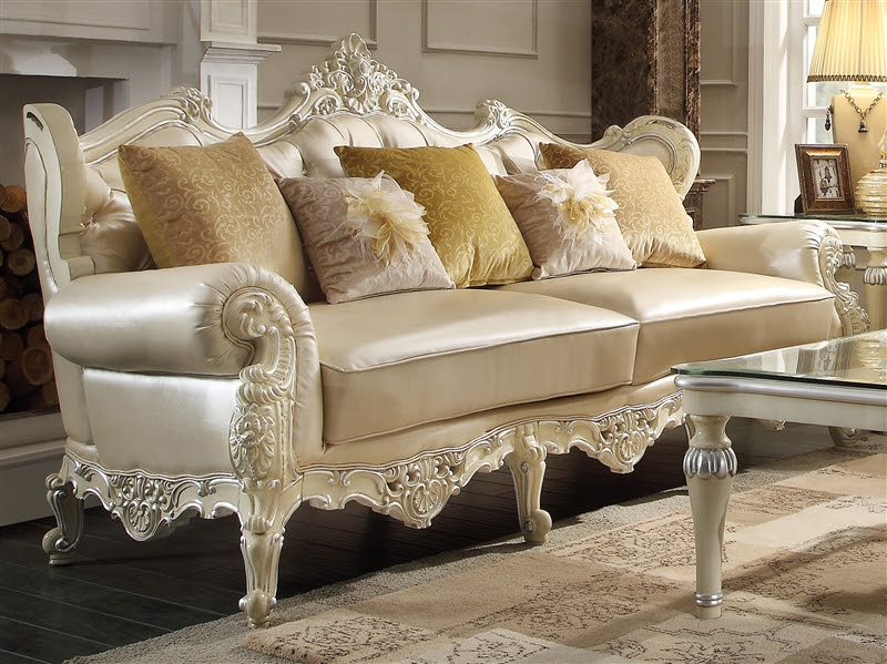 Luxury Ivory Traditional Sofa by Homey Design - HD-13009-S