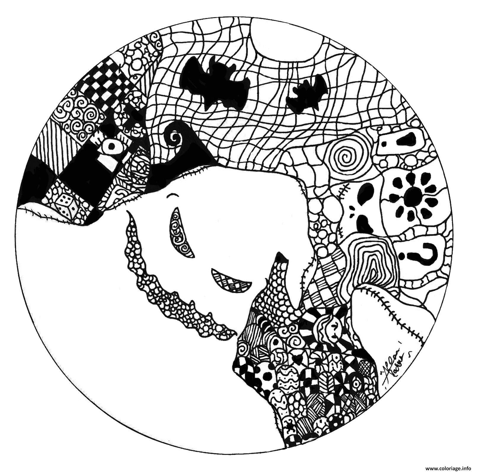 Coloriage De Mandala Fantomes L