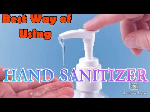 50% people Use HAND SANITIZER  in WRONG WAY!!
