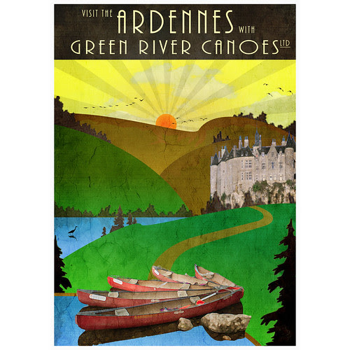Canoeing in the Belgium Ardennes