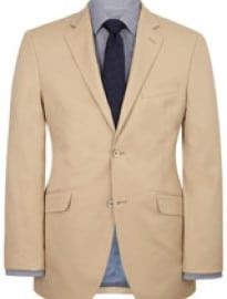 Austin Reed Contemporary Fit Stone Cotton Jacket