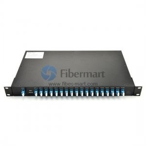 18 channels, 1RU Rack Mount, Duplex, CWDM Mux & Demux
