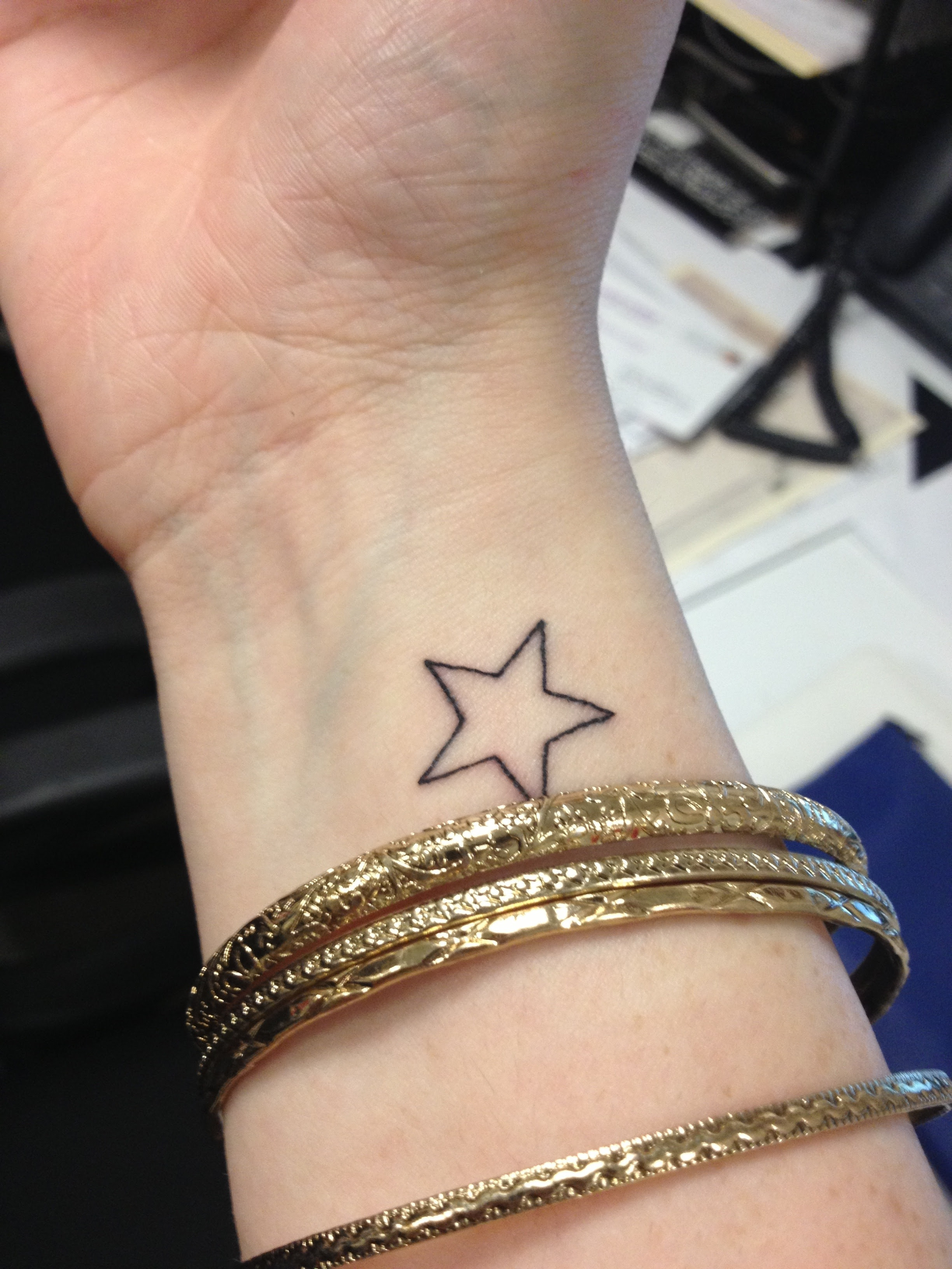 Right Wrist Star Tattoo For Women