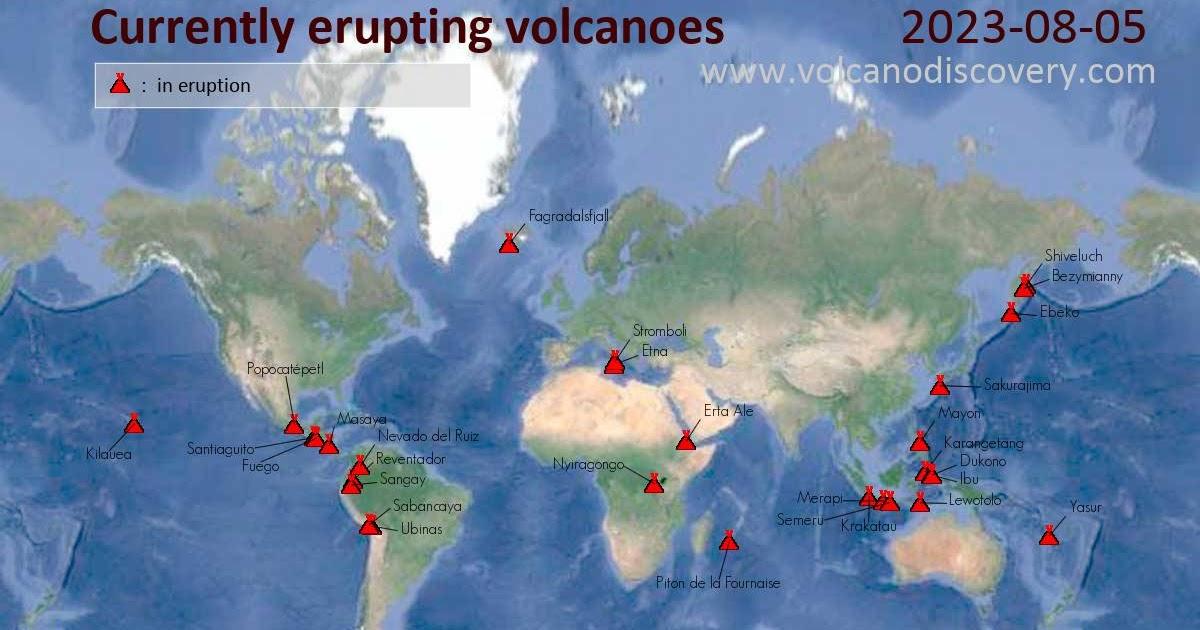 Meteo espa a los volcanes activos actuales en la tierra - Tiempo en casetas zaragoza ...