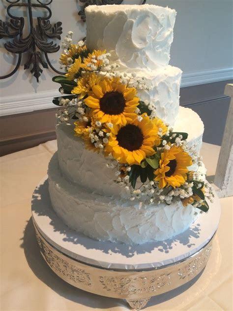 Sunflower Wedding cake   Dream wedding   Wedding cakes