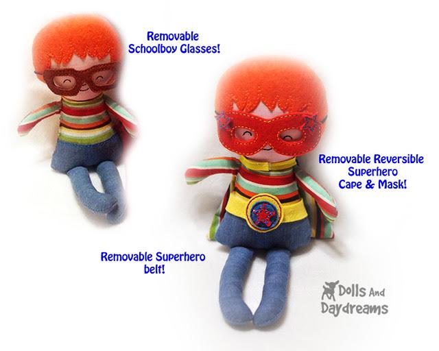 In The Hoop Superhero Boy Doll