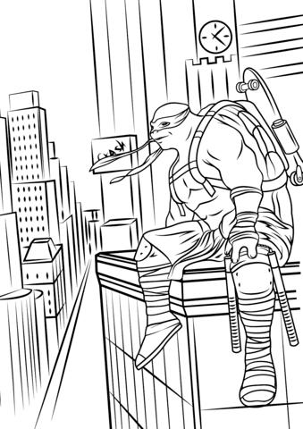 teenage mutant ninja turtles popular easy coloring pages pdf  find gallery