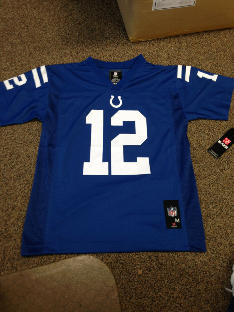 NWT NFL TEAM APPAREL INDIANAPOLIS COLTS ANDREW LUCK JERSEY YOUTH SIZE SMXL eBay
