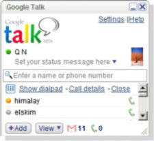 Google Talk Dialpad
