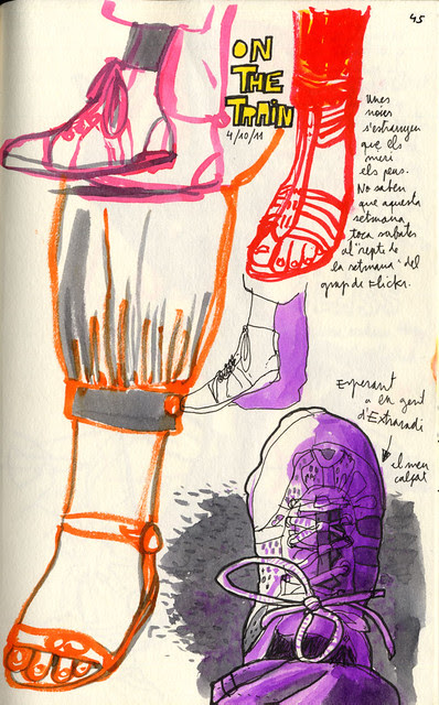 Zapatos en el tren / Shoes on the train