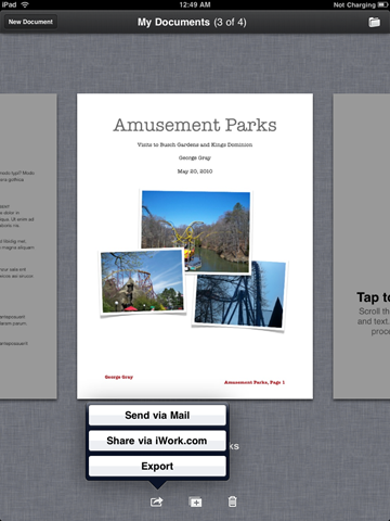 Pages For Ipad. Pages for iPad: sharing and