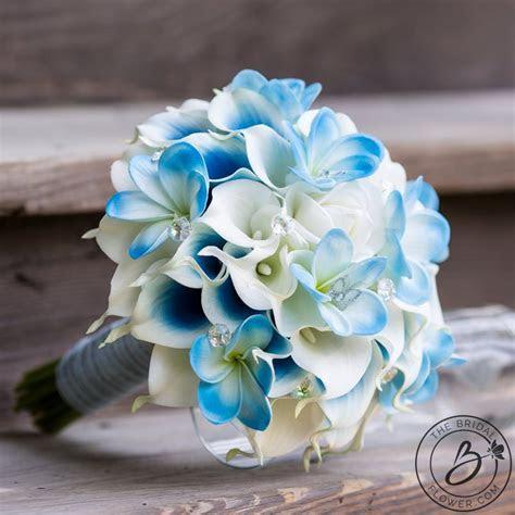 Cinderella inspired blue wedding bouquet with butterflies