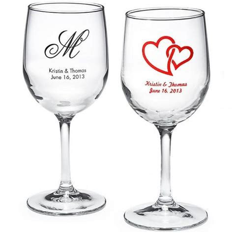 Wine Wedding   Personalized Wine Glass #1182042   Weddbook
