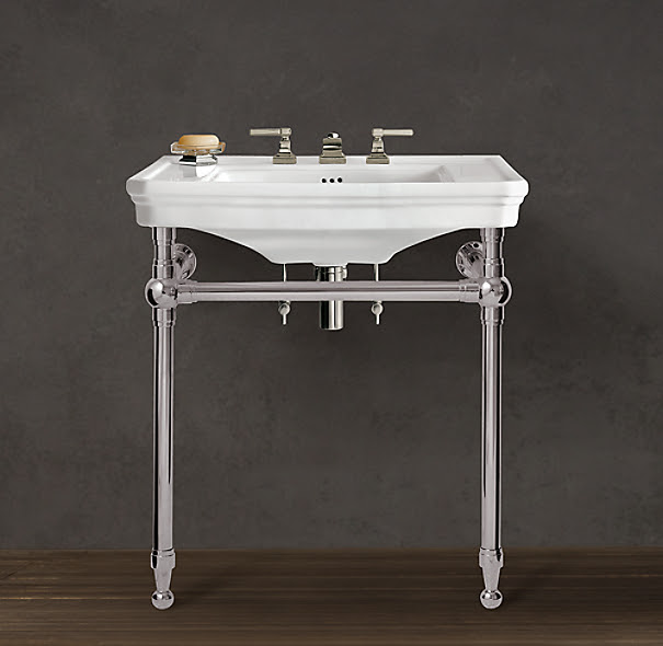 Park Rounded Metal Console Sink
