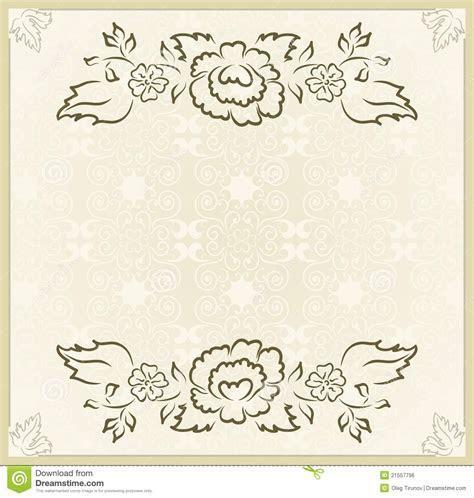 Vintage Design For Wedding Card Stock Vector