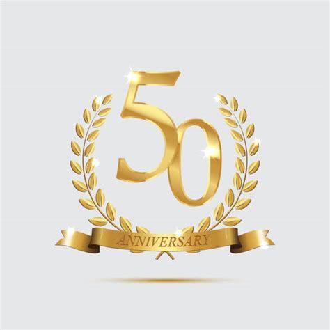 Royalty Free 50th Wedding Anniversary Clip Art, Vector