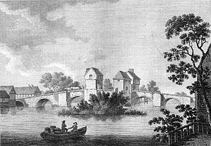 Bedford Bridge from Antiquities of England (17...