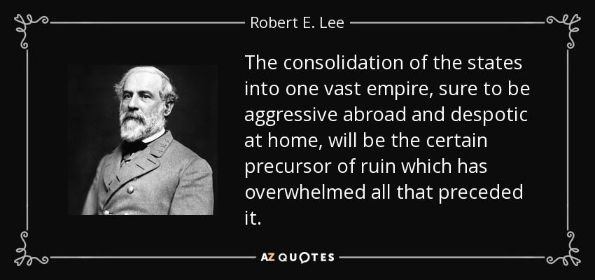 Image result for lee The consolidation of the states into one