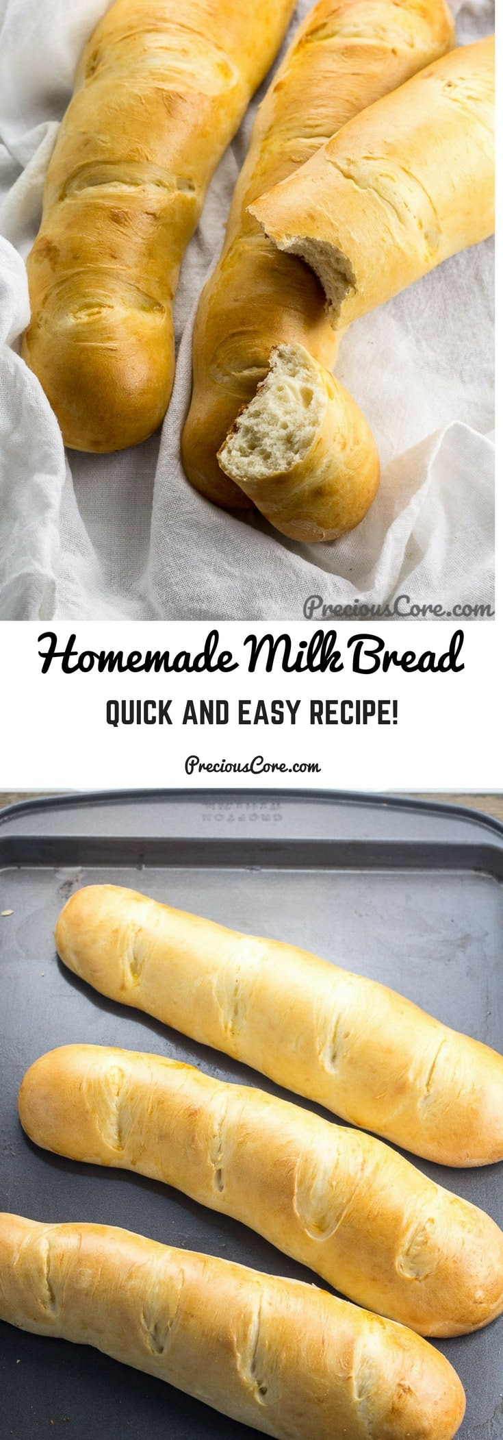 Homemade Milk Bread | Precious Core