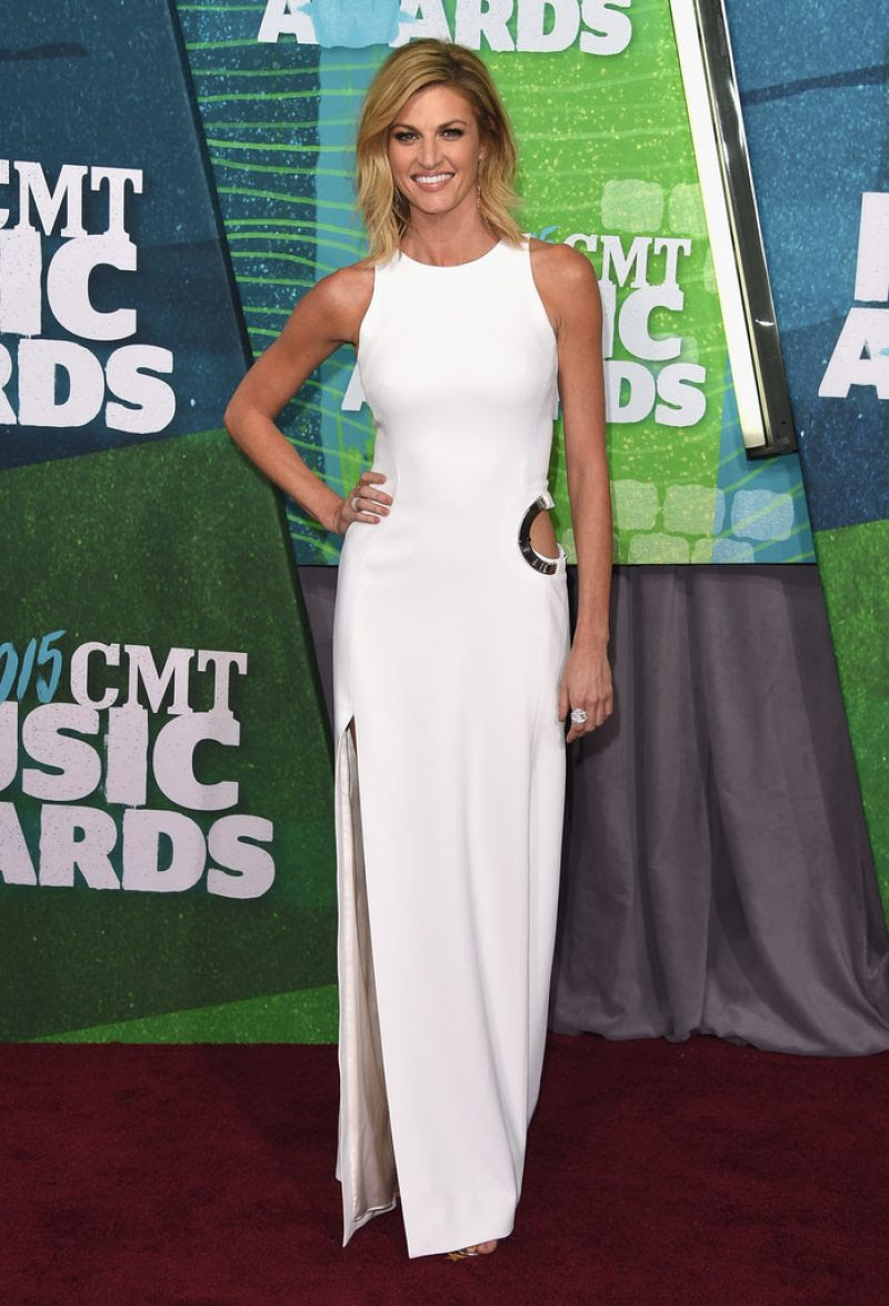 ERIN ANDREWS at 2015 CMT Music Awards in Nashville