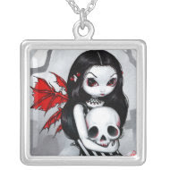 A Walk Through the Cemetery NECKLACE fairy skull necklace