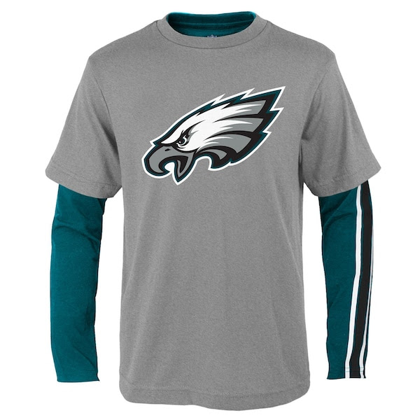 Youth Midnight Green/Gray Philadelphia Eagles Fan Gear Squad TShirt Combo Pack