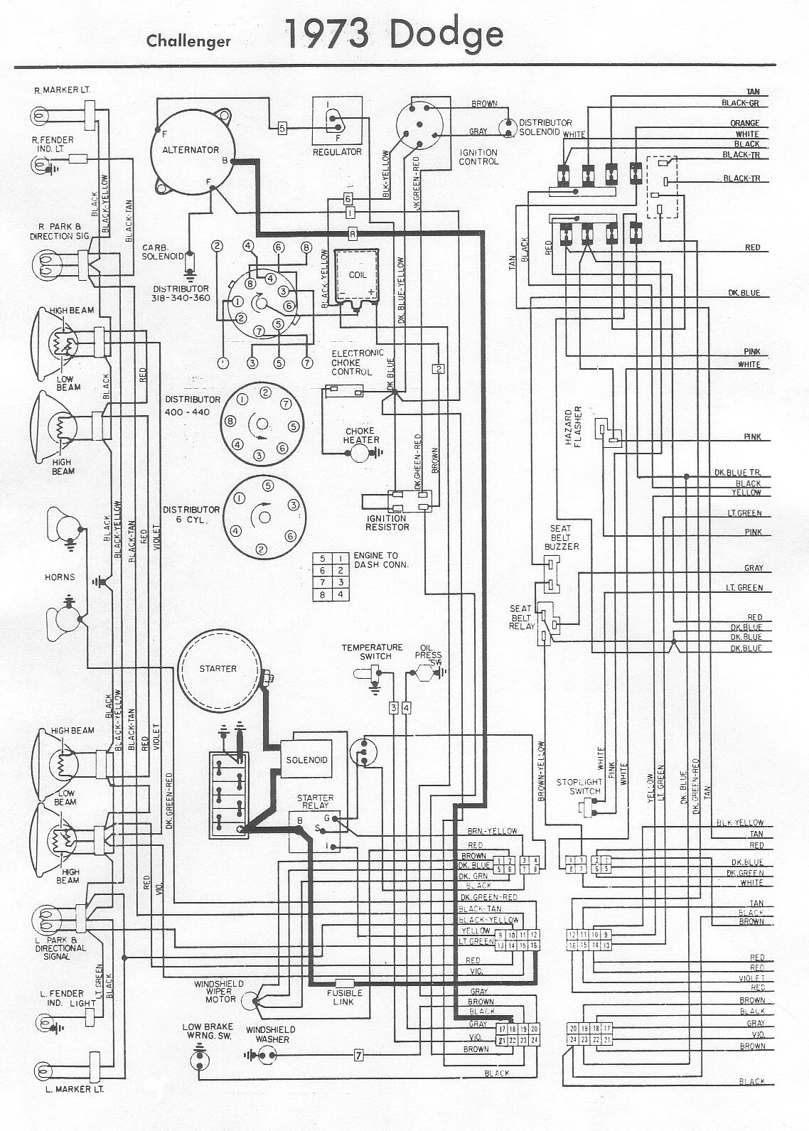 73 Wiring Diagram The Dodge Challenger Message Board