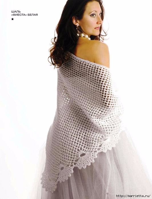 Hook.  White shawl FIESTA (1) (533x699, 115Kb)