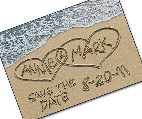 Save The Date Cards   Personalized Names And Date   Casual