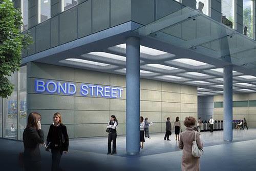 Artists impression Bond Street Tube eastern ticket hall
