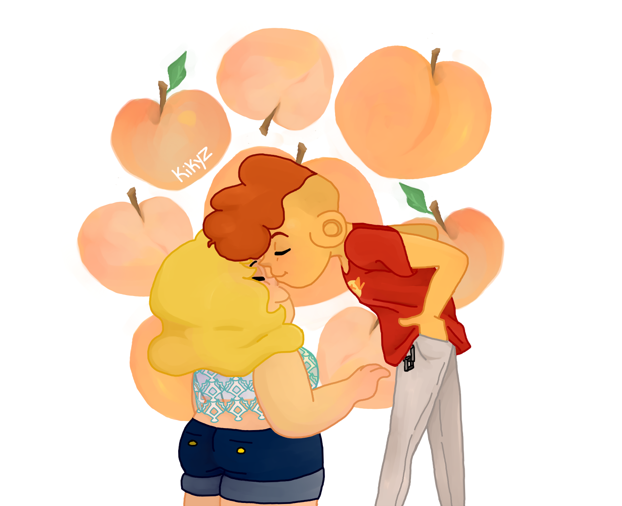 """""""And if I had my little way, I'd eat peaches everyday! """" lol i dunno. semi inspired by my fic but eh. i've eaten a lot of peaches this summer"""