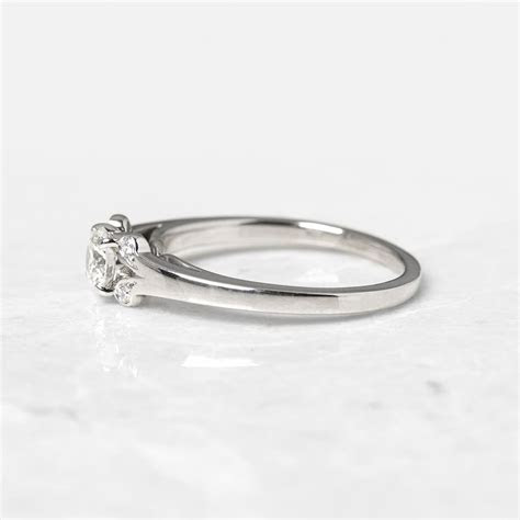Cartier Platinum 0.32ct Diamond Ballerine Engagement Ring