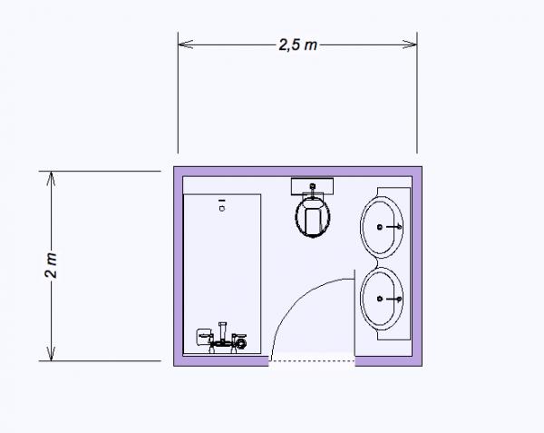 photo decoration salle de bain 5m2 avec wc 2