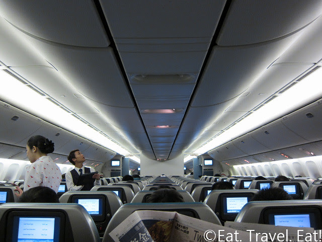 Cathay Pacific Economy Cabin before Takeoff