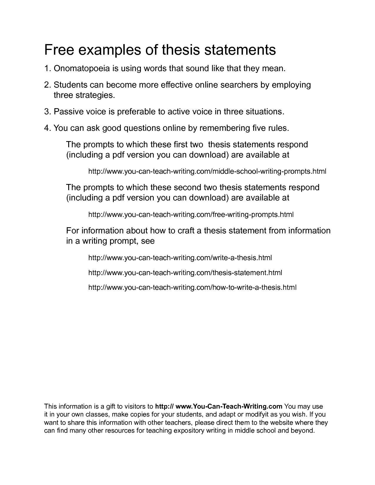 how to write a thesis statement 3 examples