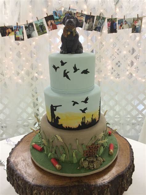Duck Hunter's Grooms Cake   CakeCentral.com