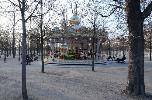 Carousel in Jardin des Tuileries, Paris
