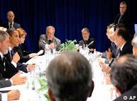 Longas e difíceis negociações entre os principais líderes mundiais