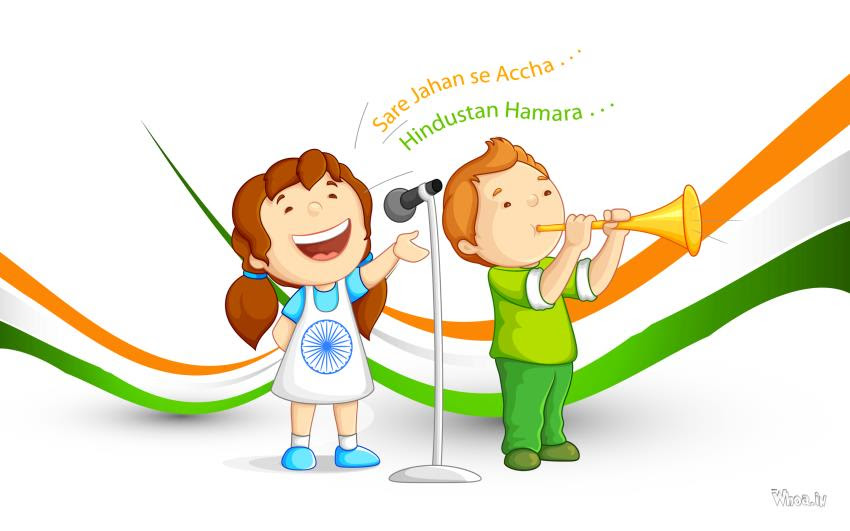 Happy Independence Day With Sare Jahan Se Accha Hindustan Hamara
