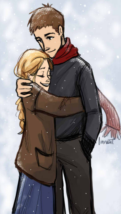 So its been snowing all weekend here and I just imagined how romantic the setting is! and just the idea of sharing a coAT IS THE CUTEST THING